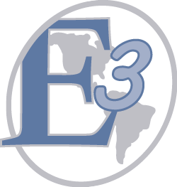 E3 Systems: Easy, Everywhere, Economical. Our logo signifying our global reach